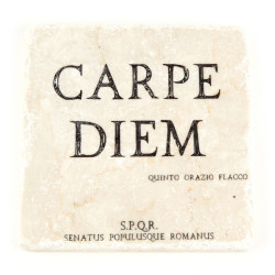 Plaque de marbre Carpe Diem