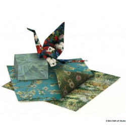Pochette 18 feuilles origami -  Van Gogh