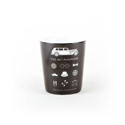 Retro black mug