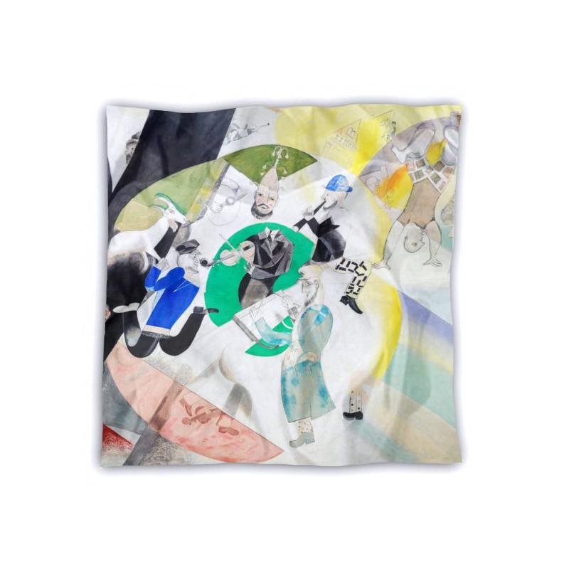 Silk square scarf, Chagall