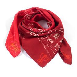 Silk scarf square Jardin...