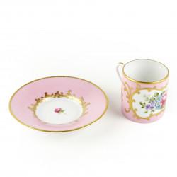 Set tasse à café et sous-tasse Rose Ephrussi