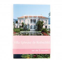 3 notebooks Villa Ephrussi de Rothschild