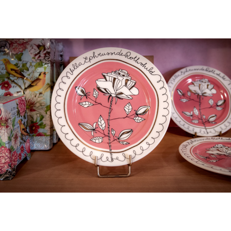 Assiette rose Villa Ephrussi de Rothschild
